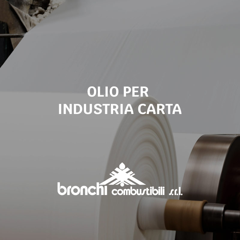 Olio per industria carta